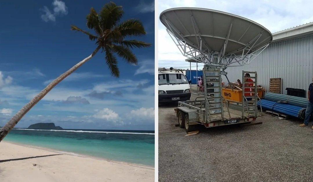 Eilandengroep Tonga wekenlang zonder internet